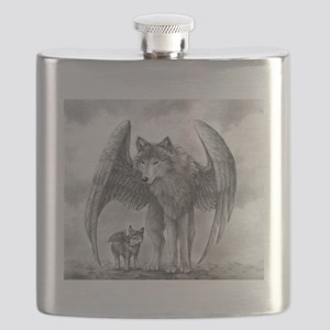 Winged Wolves Flask