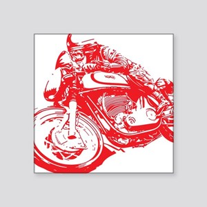"Norton Cafe Racer Square Sticker 3"" x 3"""