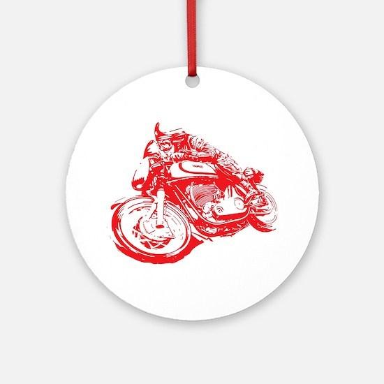 Norton Cafe Racer Round Ornament