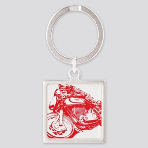 Norton Cafe Racer Square Keychain