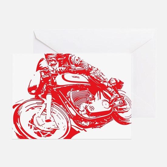 Norton Cafe Racer Greeting Card