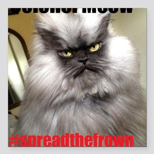 """spreadthefrown Square Car Magnet 3"""" x 3"""""""