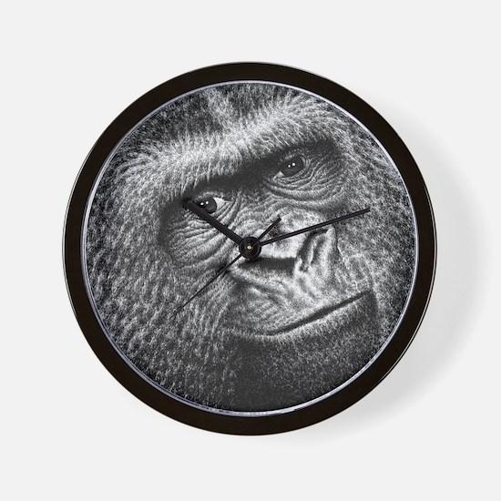 Gorilla Throw Pillow Wall Clock