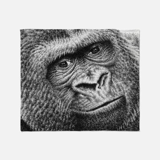 Gorilla Throw Pillow Throw Blanket