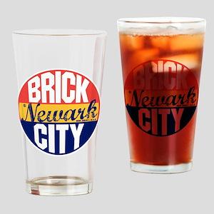 Newark Vintage Label B Drinking Glass
