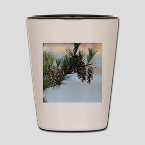 ipadMini_PineCones_2 Shot Glass