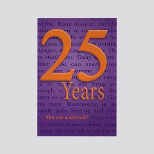 25 Year Recovery Birthday Rectangle Magnet