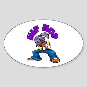 Hip Hop Dance Oval Sticker