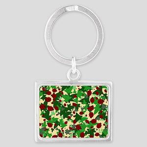 Ladybugs and Ivy on Sunny Yello Landscape Keychain