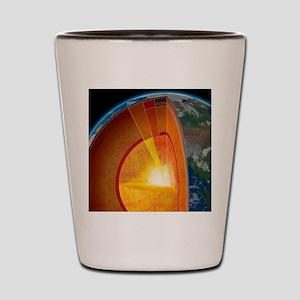 Earth's internal structure, artwork Shot Glass