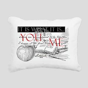 Literati - IT IS WHAT IT Rectangular Canvas Pillow