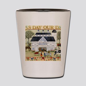 daily bread 2 Shot Glass