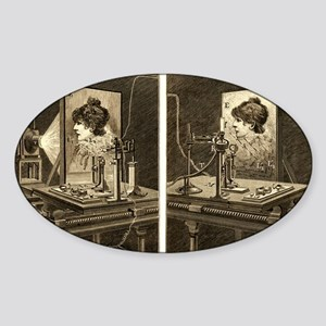 Early television system, 19th centu Sticker (Oval)