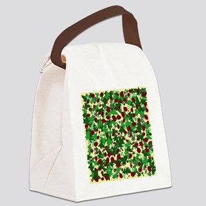 Ladybugs and Ivy on Sunny Yellow Canvas Lunch Bag