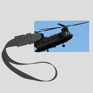 ipadMini_Helicopter_2 Large Luggage Tag