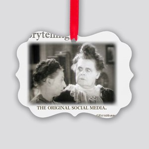 Storytelling...The Original Socia Picture Ornament