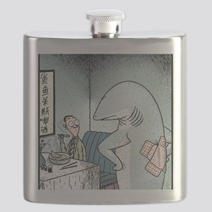 Angry Fin-less Shark Flask