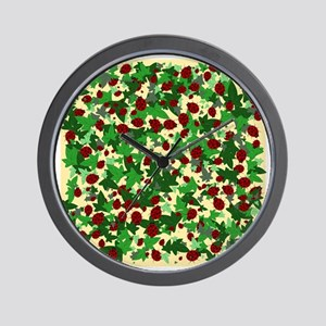 Ladybugs and Ivy on Sunny Yellow Wall Clock