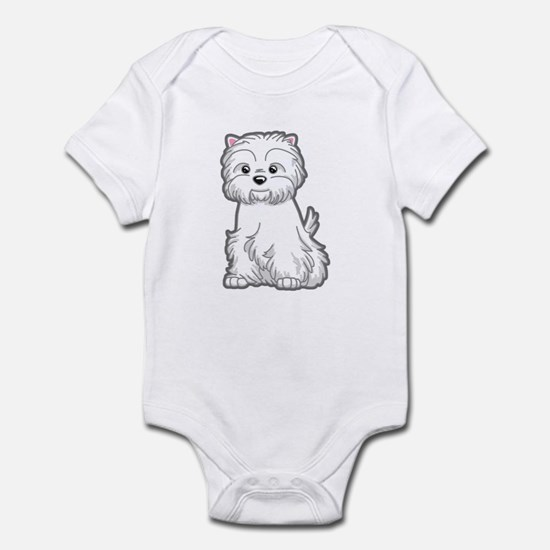 Cute Westie Dog Infant Bodysuit