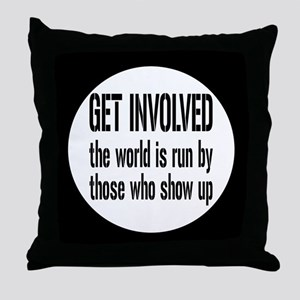 involvedbutton Throw Pillow