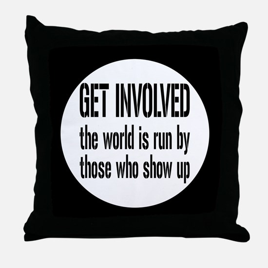 involvedbutton Throw Pillow