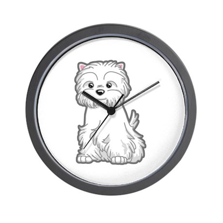 Cute Westie Dog Wall Clock