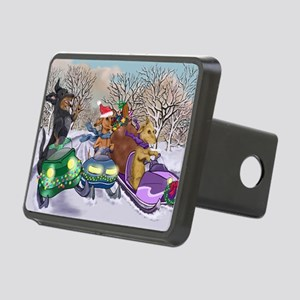 Snow Mobile Wieners Rectangular Hitch Cover