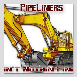 """pipeliners Square Car Magnet 3"""" x 3"""""""