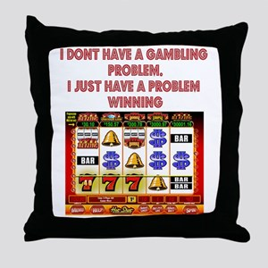 Gambling Problem Throw Pillow
