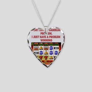 Gambling Problem Necklace Heart Charm