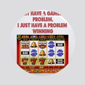 Gambling Problem Round Ornament