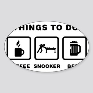 Snooker-ABH1 Sticker (Oval)