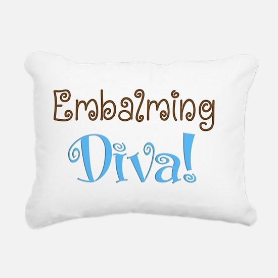 embalming diva brown blu Rectangular Canvas Pillow