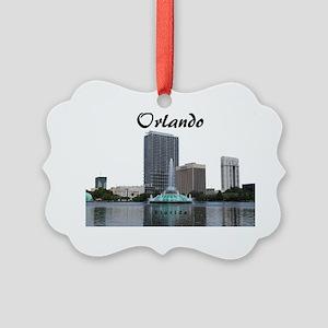 Orlando_Rect_Lake EolaFountain_Wi Picture Ornament