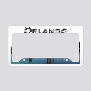 Orlando_Rect_OrlandoSkyline_W License Plate Holder