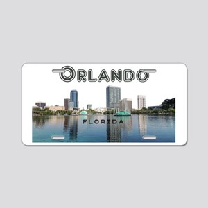 Orlando_Rect_OrlandoSkyline Aluminum License Plate