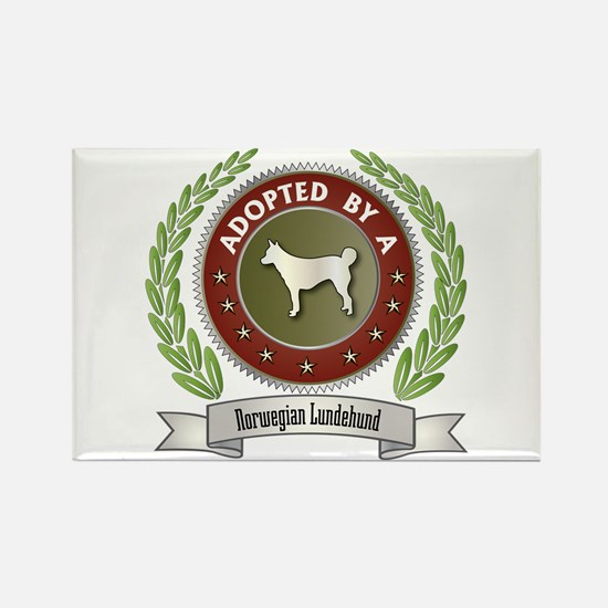 Lundehund Adopted Rectangle Magnet (10 pack)