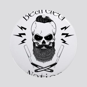 Bearded Nation Round Ornament