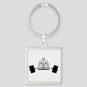 Workout Beast Square Keychain