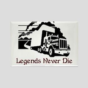 Legends Never Die Rectangle Magnet