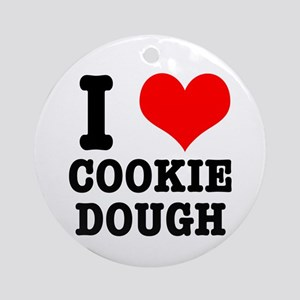 I Heart (Love) Cookie Dough Ornament (Round)