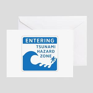 Tsunami Hazard Zone, Canada Greeting Cards (Packag