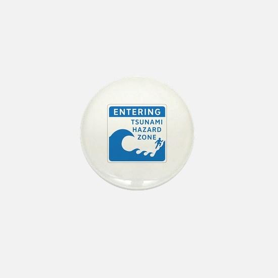 Tsunami Hazard Zone, Canada Mini Button