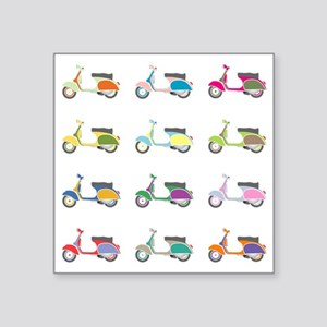 "VESPA PIAGGIO ITALIA PARTY Square Sticker 3"" x 3"""