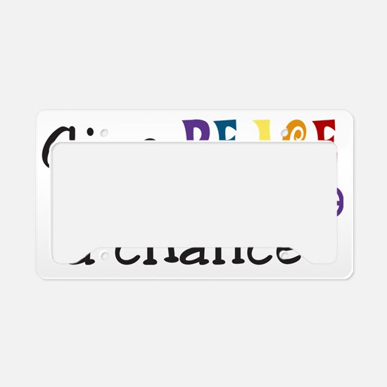 Give Peace License Plate Holder