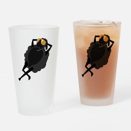 BLACK SHEEP Drinking Glass
