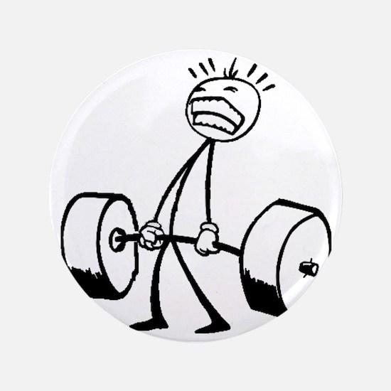 "Never Quit: Workout Logo 3.5"" Button"