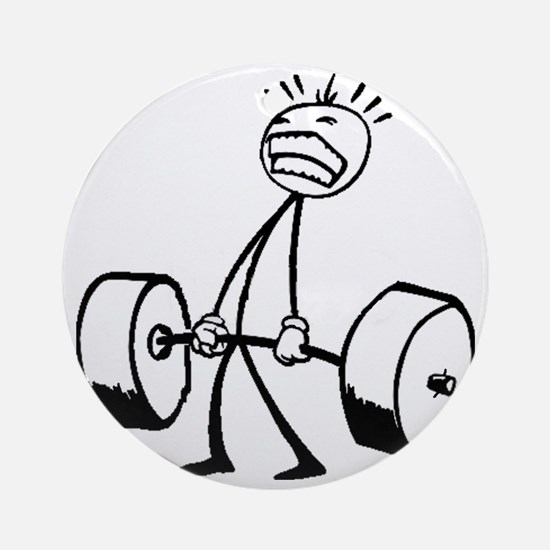 Never Quit: Workout Logo Round Ornament