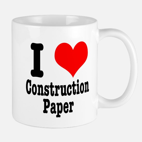 I Heart (Love) Construction Paper Mug