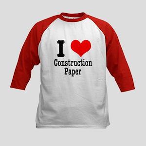 I Heart (Love) Construction Paper Kids Baseball Je